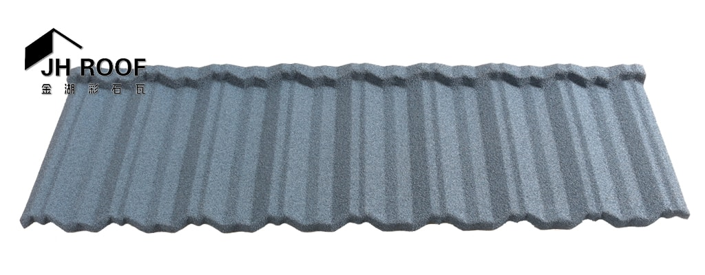 Classic stone coated metal roof tile
